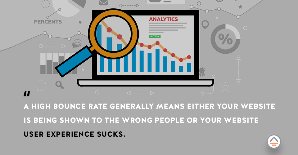 what does a high bounce rate mean?