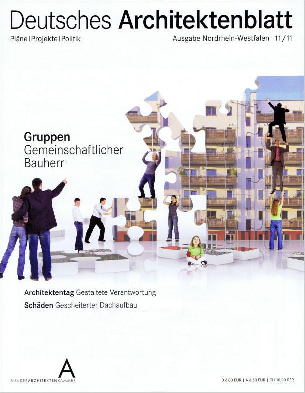 Titelseite Deutsches Architekenblatt 11/2011