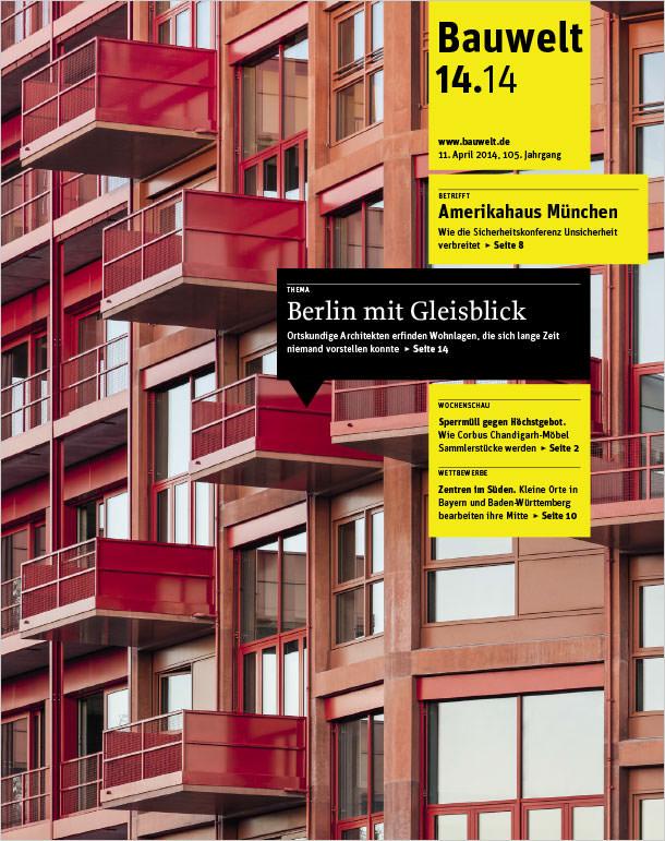 Titelseite Bauwelt 14/2014