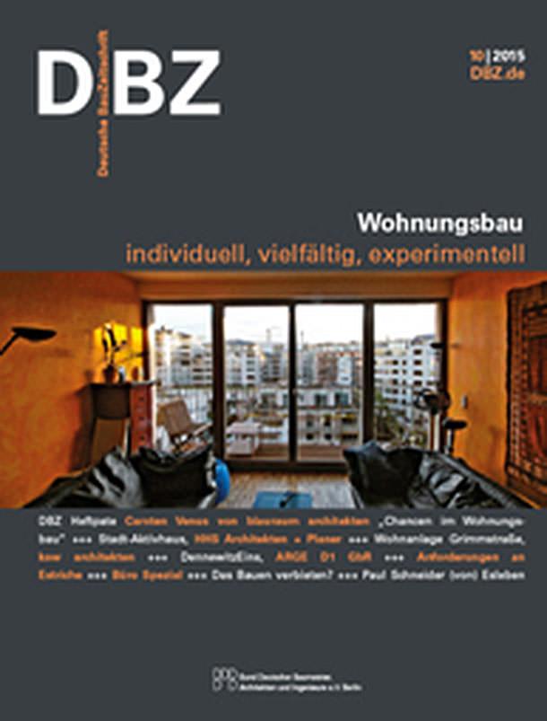Titelseite DBZ 10/2015