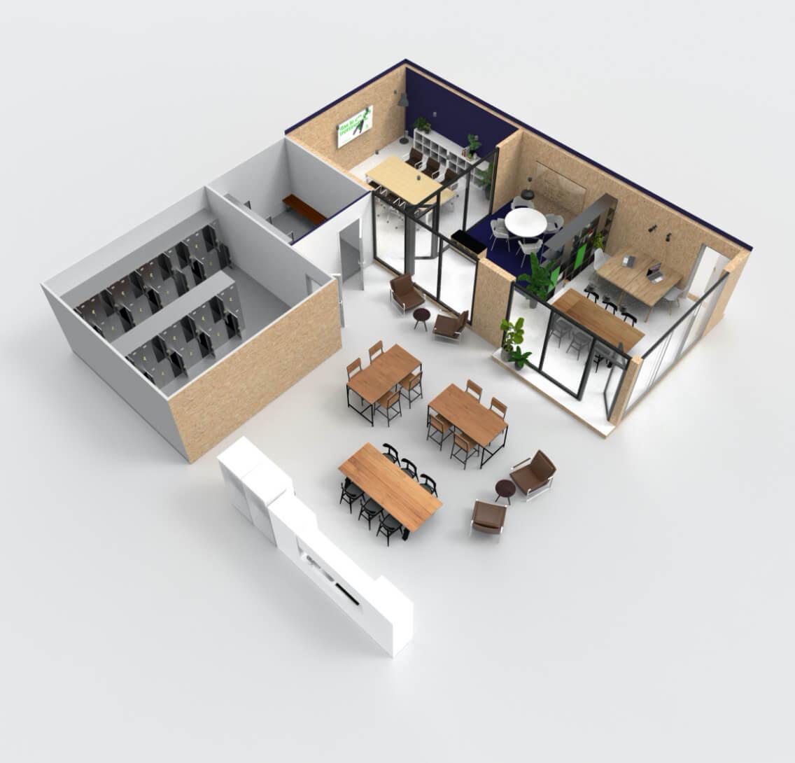 Rendu 3D Aménagement Bureaux