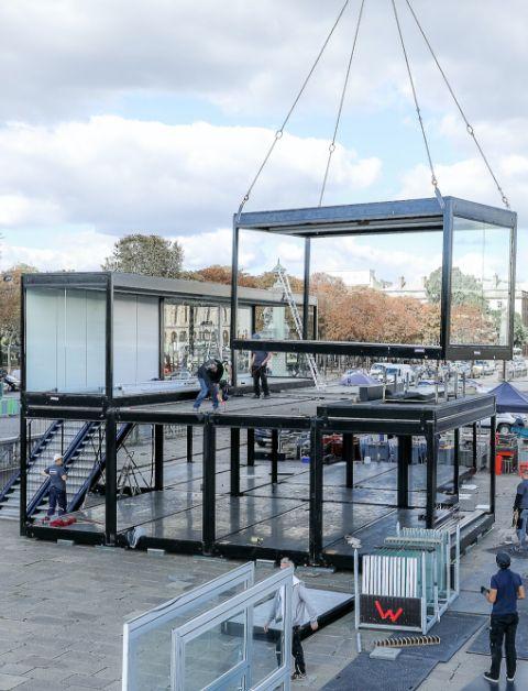 structure événementielle container
