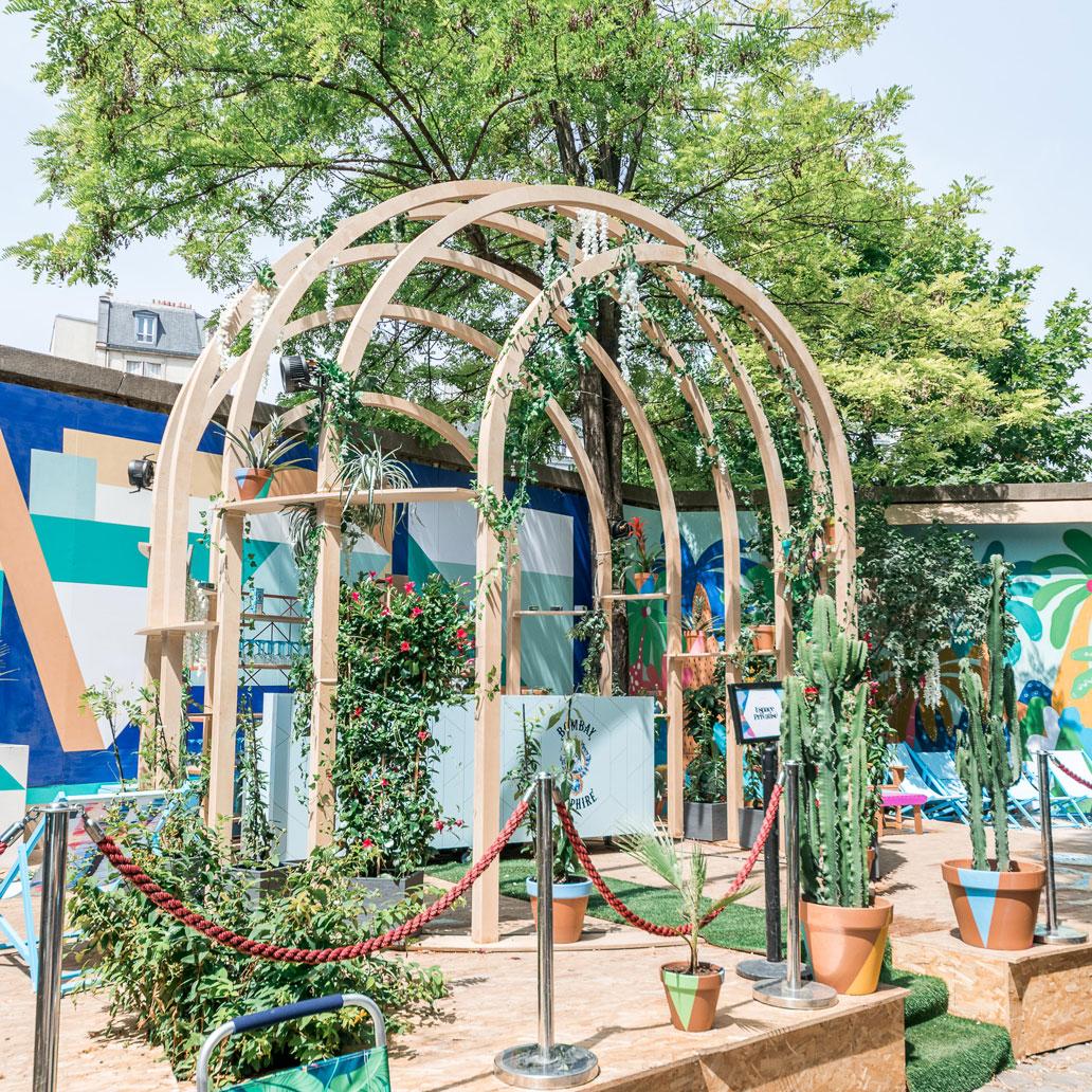 structure événementielle en bois pour Café A