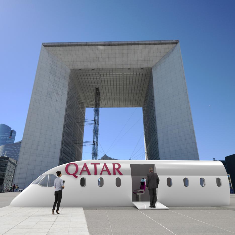 Qatar Avion FUGU Rendu 3D