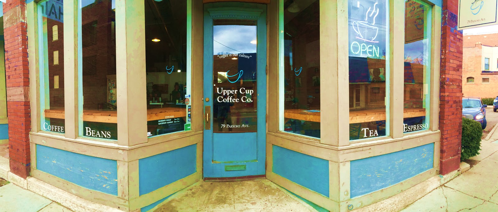Upper Cup Coffee storefront on Parsons Ave. Columbus