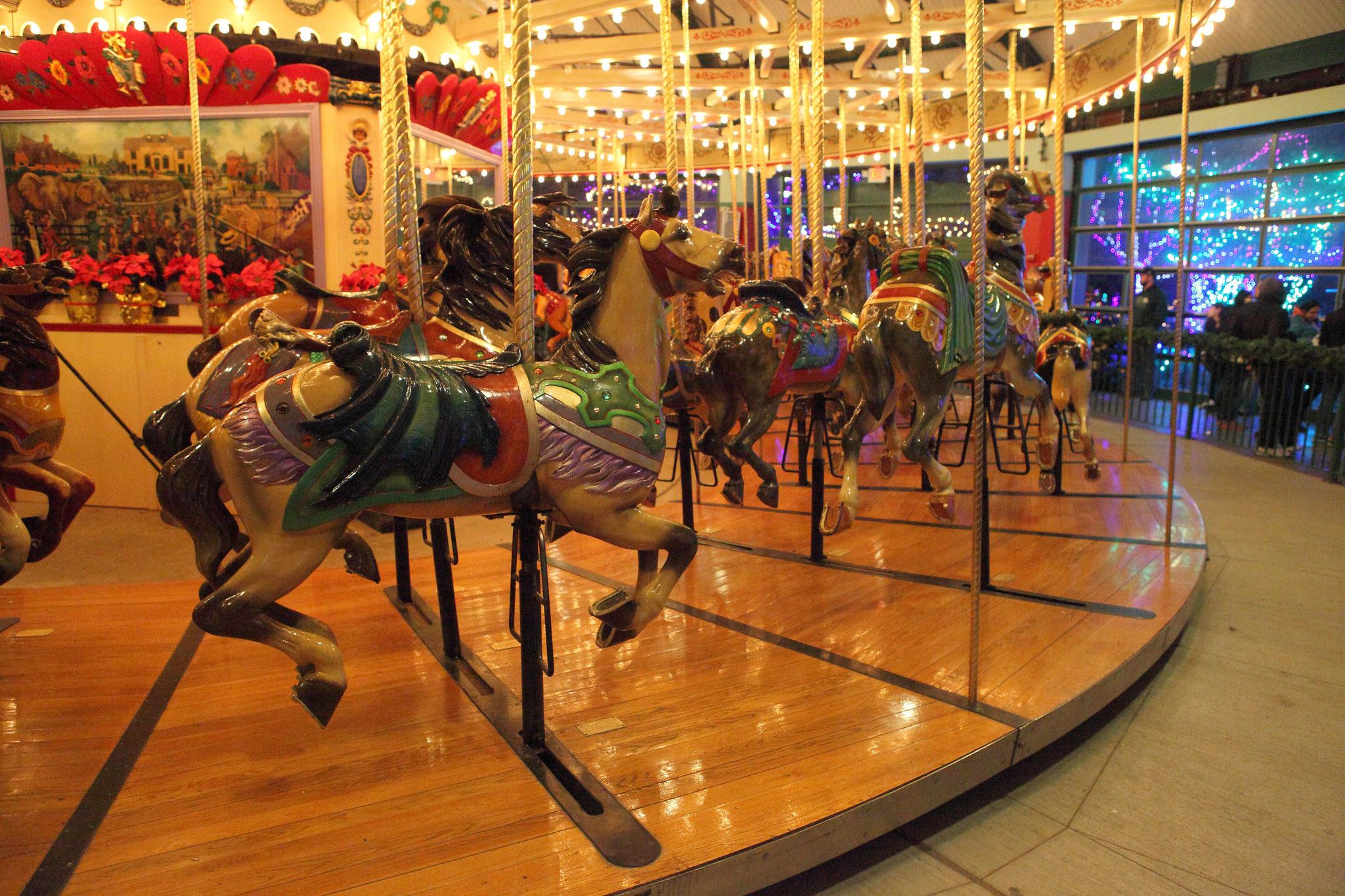 original Olentangy Park carousel at the Columbus Zoo