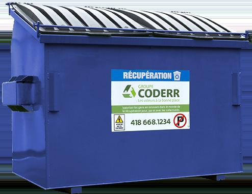 Containeur bleu Groupe Coderr