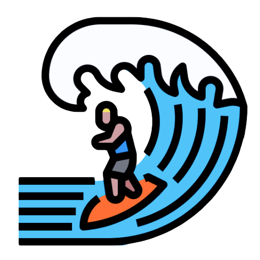 illustration of surfer on a wave