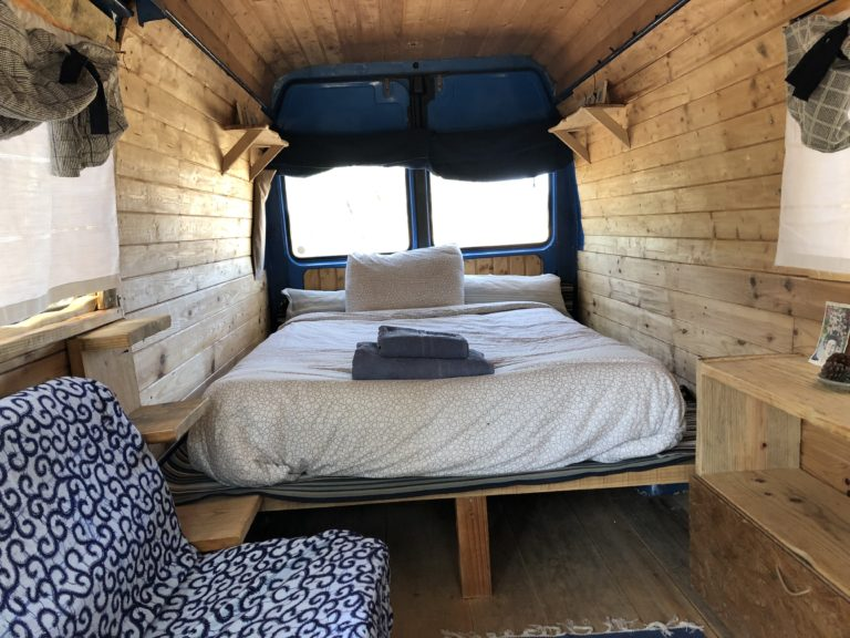 inside of van in the nature algarve