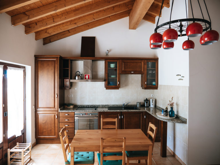 kitchen in typical portuguese farm house
