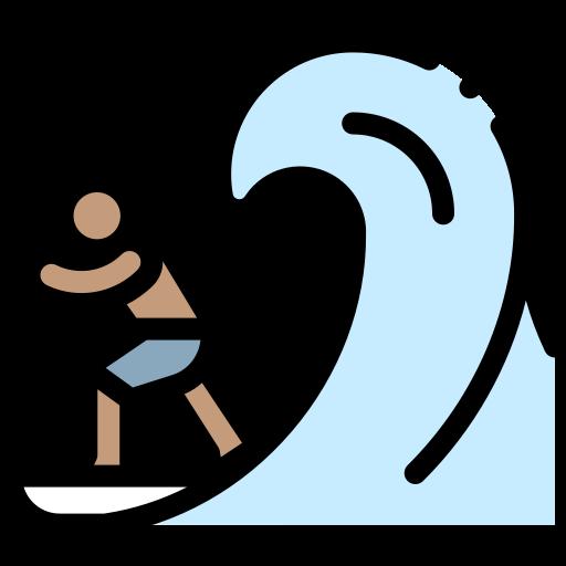 illustration of surfer on a wave