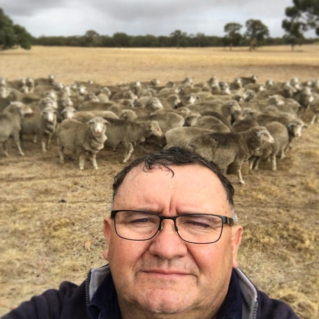 Mobble adopter Richard Halliday from Callowie Poll Merinos