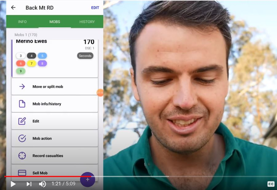 Mobble's Livestock Farm Management Software demo with Jock Lawrence