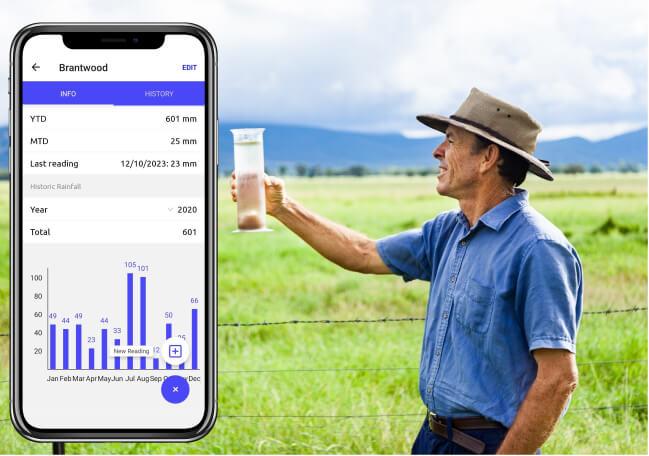 Mobble's rain gauge app, built for farmers 👍