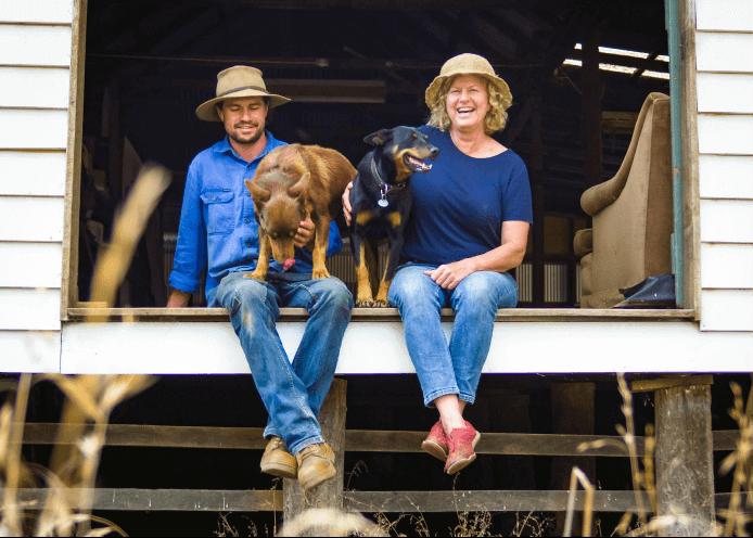Charlie and Sandy heal on their farm