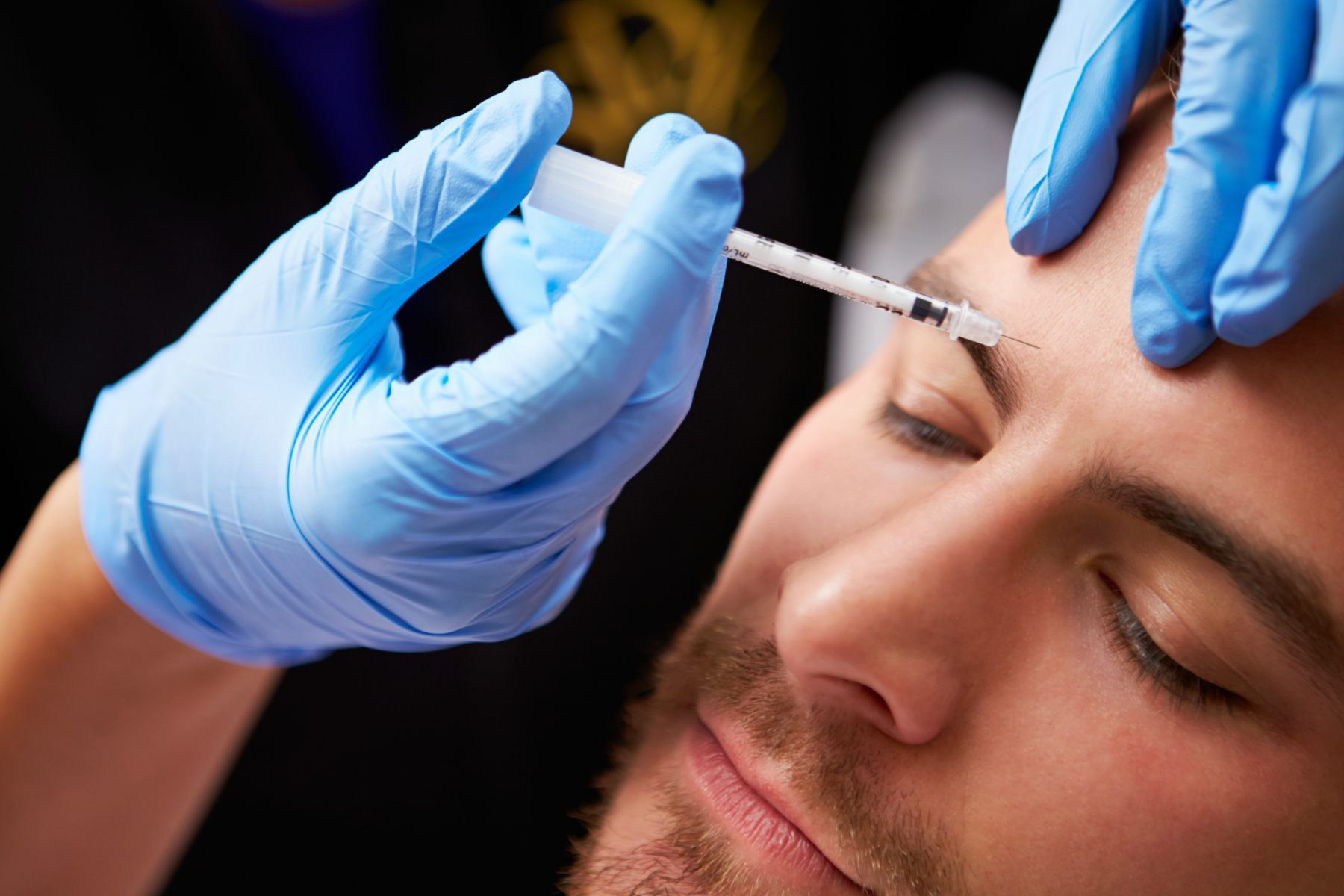Patient receiving Botox at Kissing Camels Family Dentistry