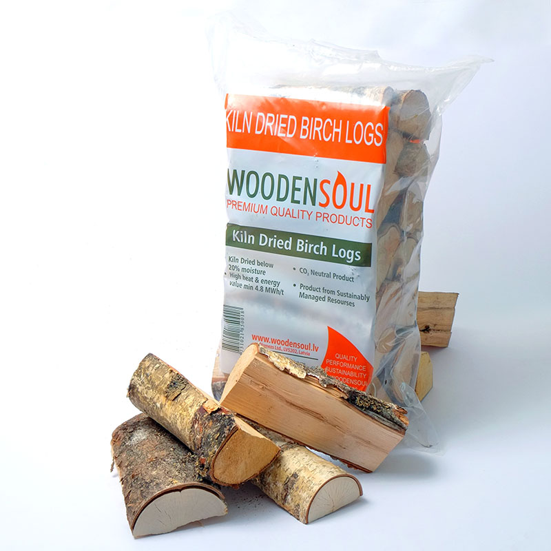 Kiln Dried Logs in Plastic bags