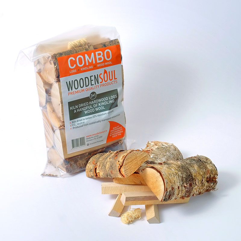 Kiln Dried Logs in COMBO Plastic bags