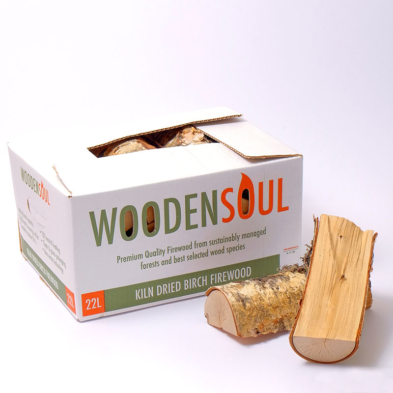 Kiln Dried Logs in Cardboard Box