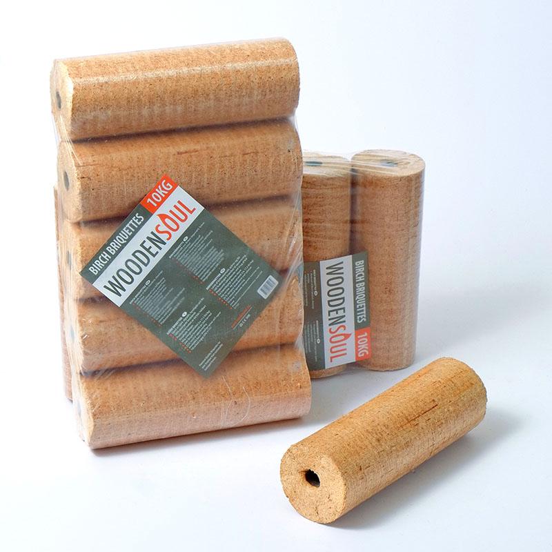 ROUND-type Birch Briquettes