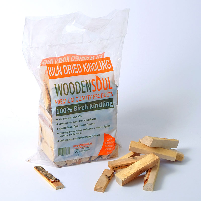 FOOD GRADE Kiln Dried Kindling in Plastic bags