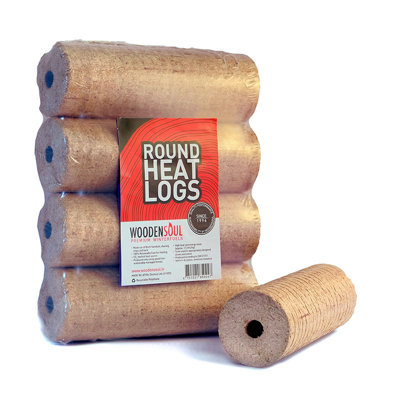ROUND-type Birch Briquettes. Woodensoul Firewood