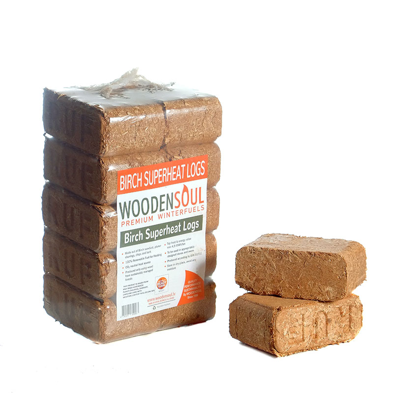 Birch SUPERHEAT Logs 10 pack