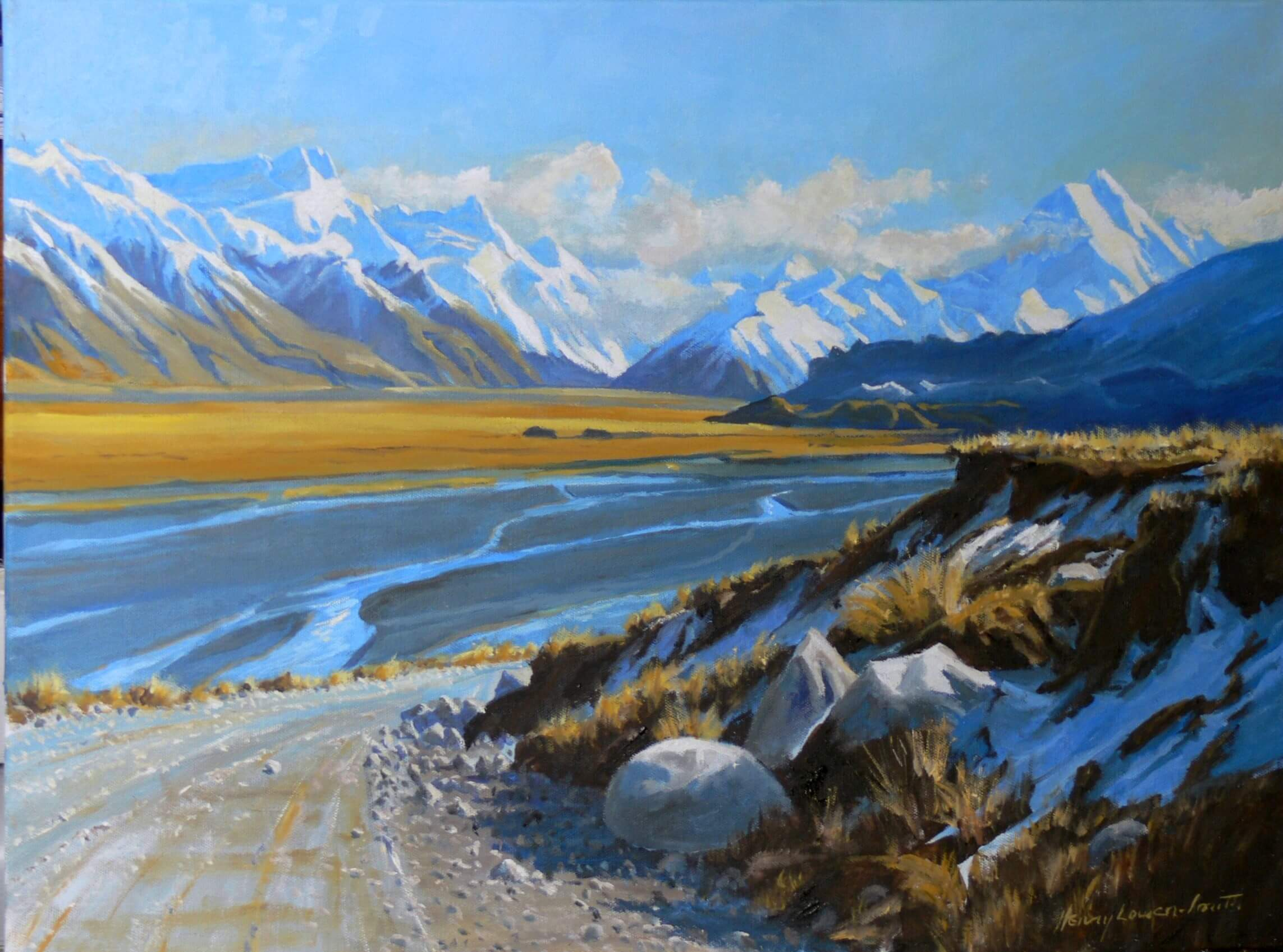 Road to Mount Cook Station