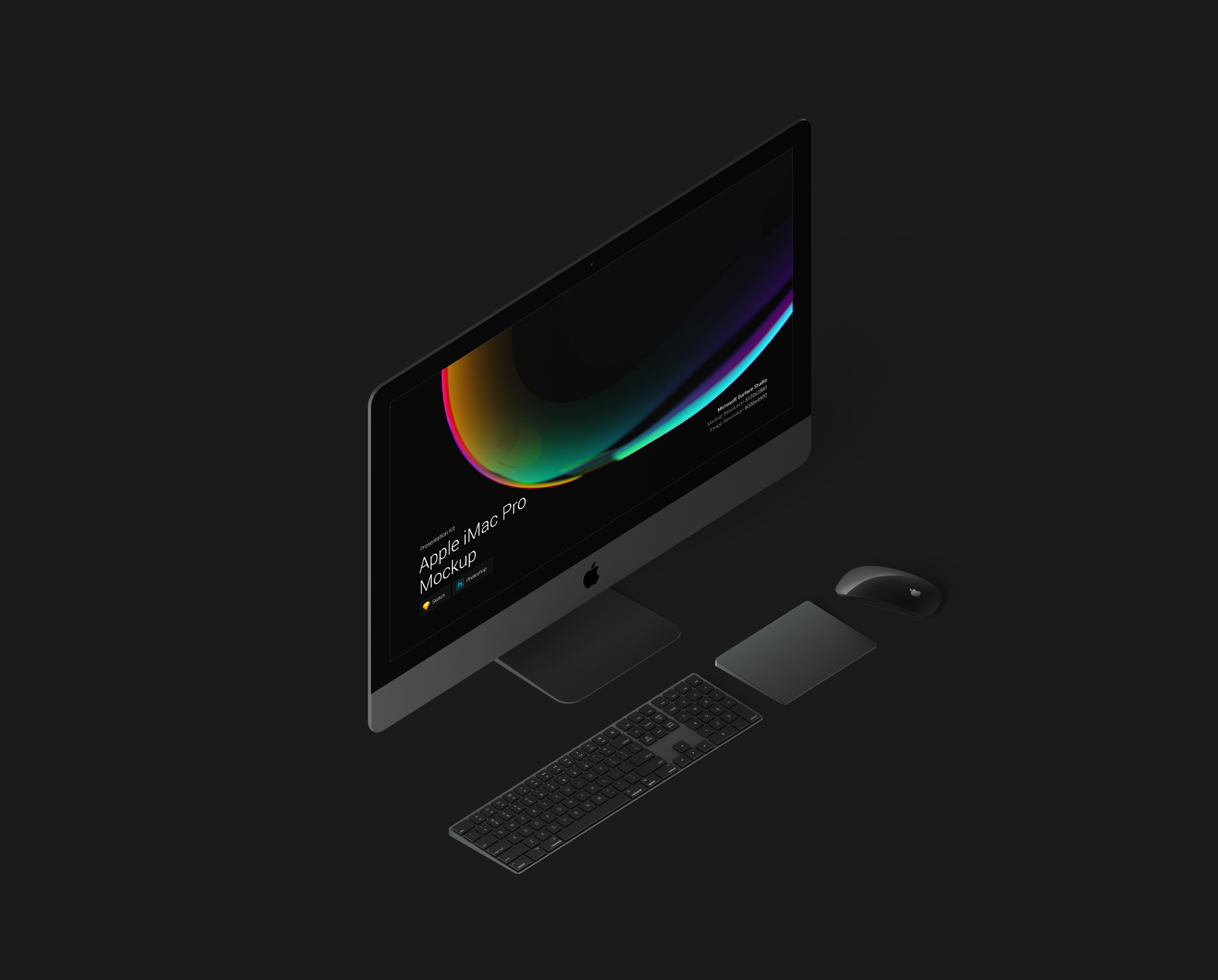 Download iMac Pro Mockup for Sketch and Photoshop\