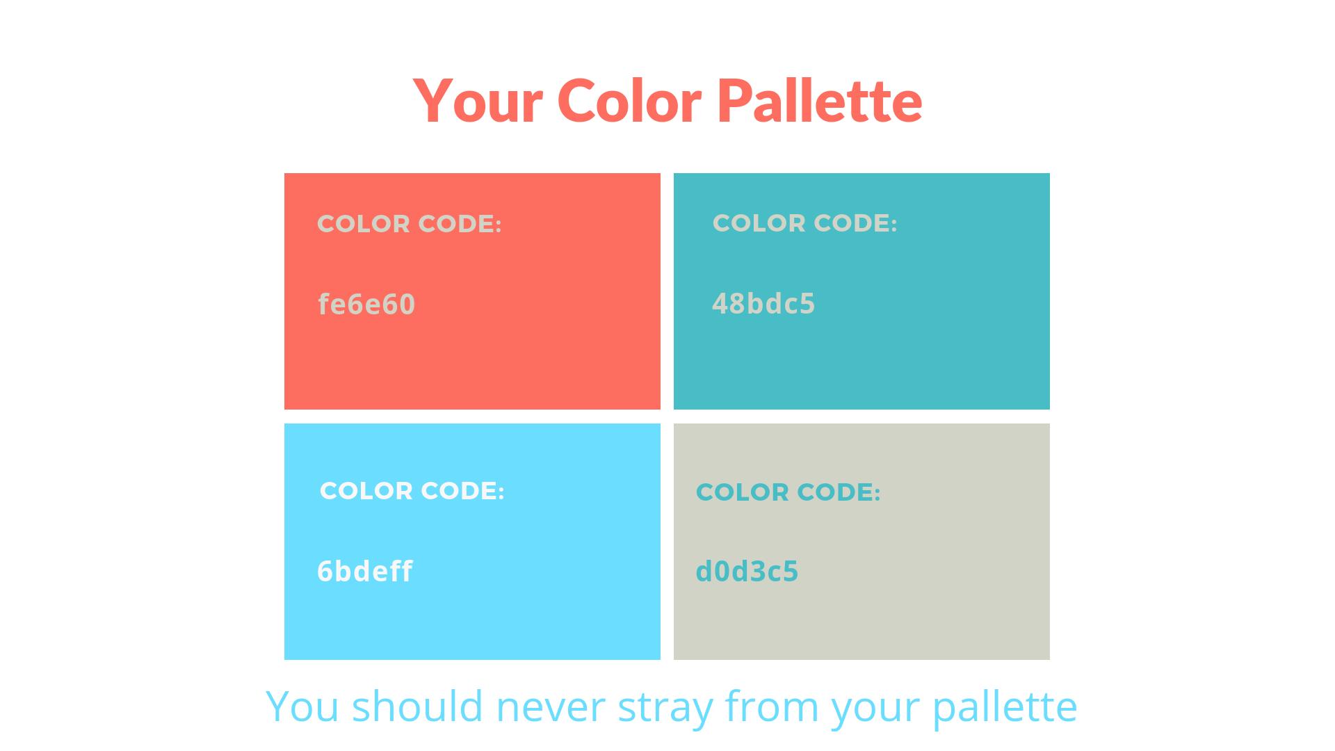 Style Guide Color Pallette