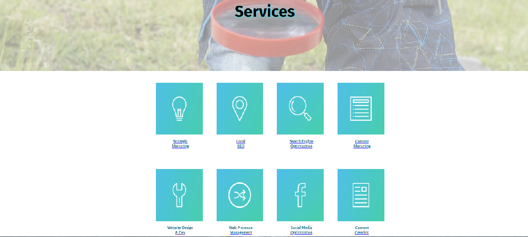 Website Design - Services Page