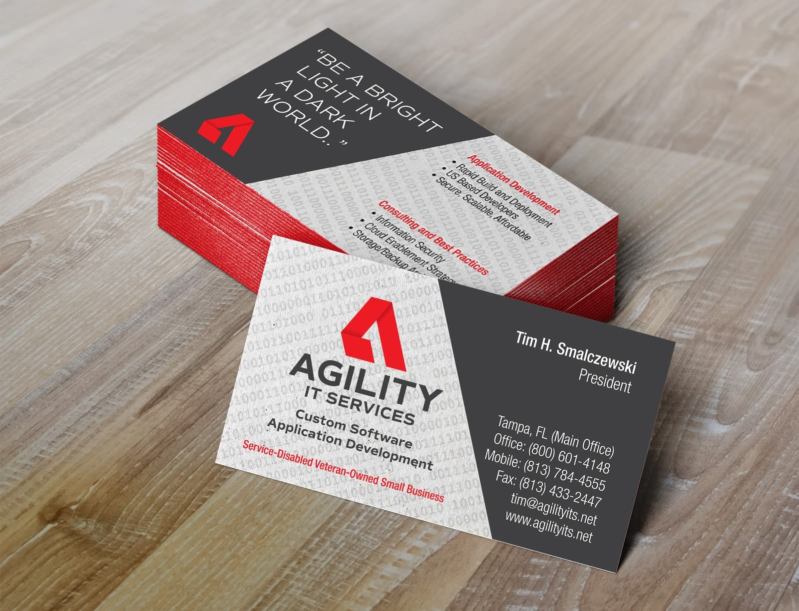 AGILITY IT Services Business Card