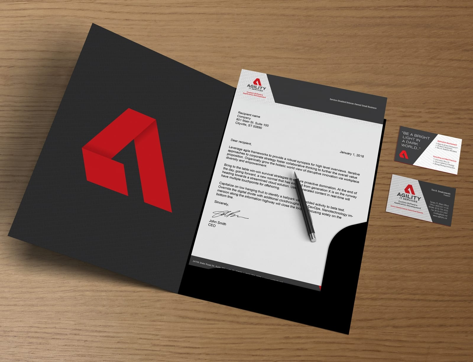 AGILITY IT Services Stationary and folder