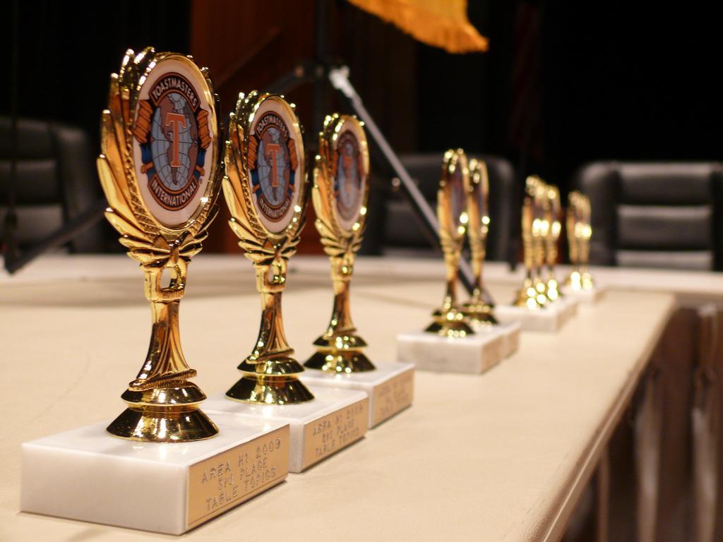 Toastmasters speech trophies