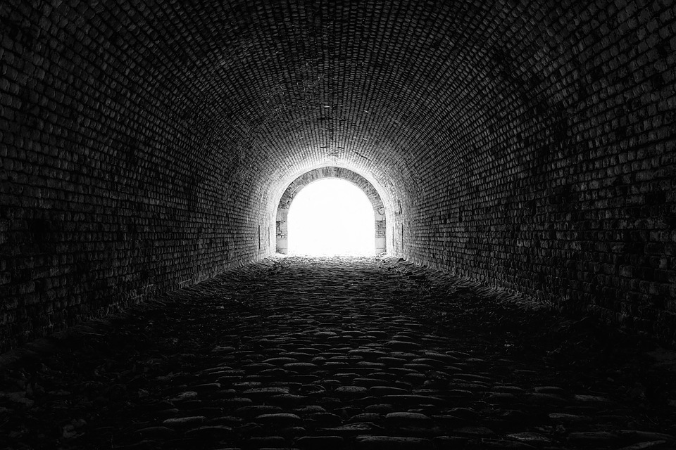 Tunnel, Light, Hope, Mystical, Black, Atmosphere