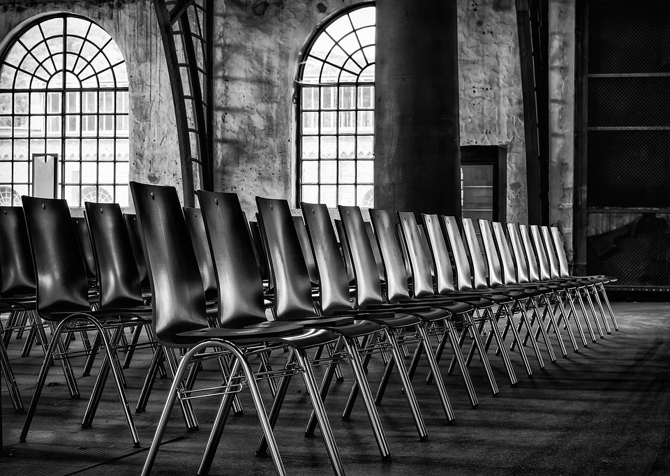 Chairs, Series, Sit, Row, Hall, Event, Seat
