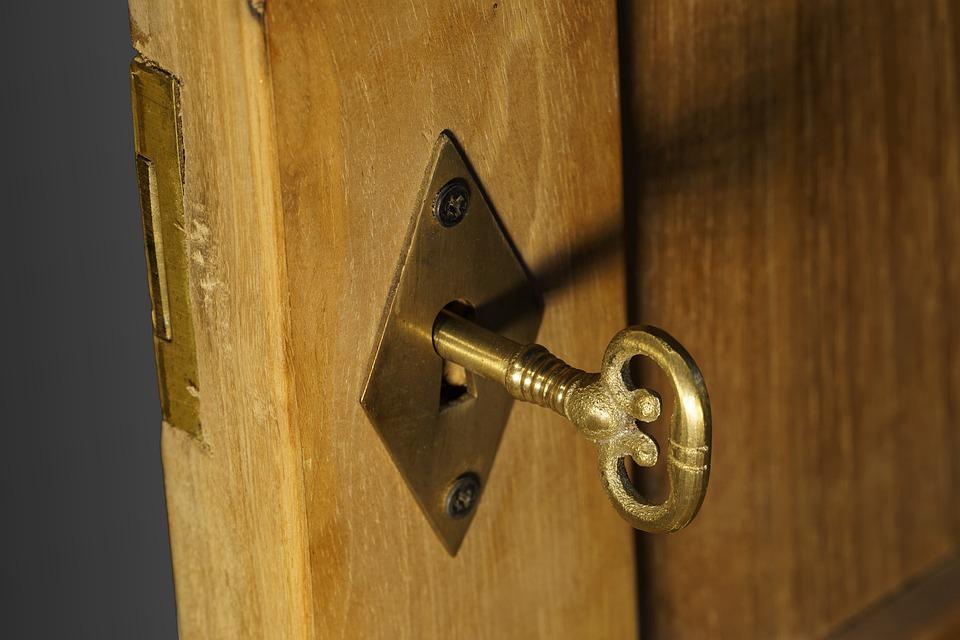 key in door to unlock awareness