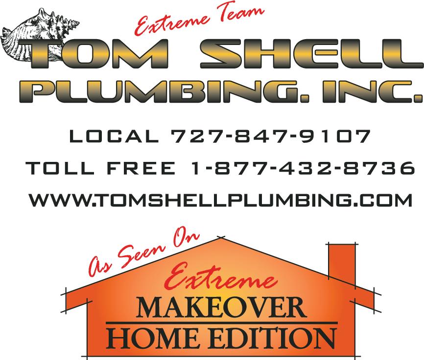 tom shell plumbing logo