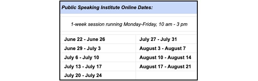 Public Speaking Institute Online