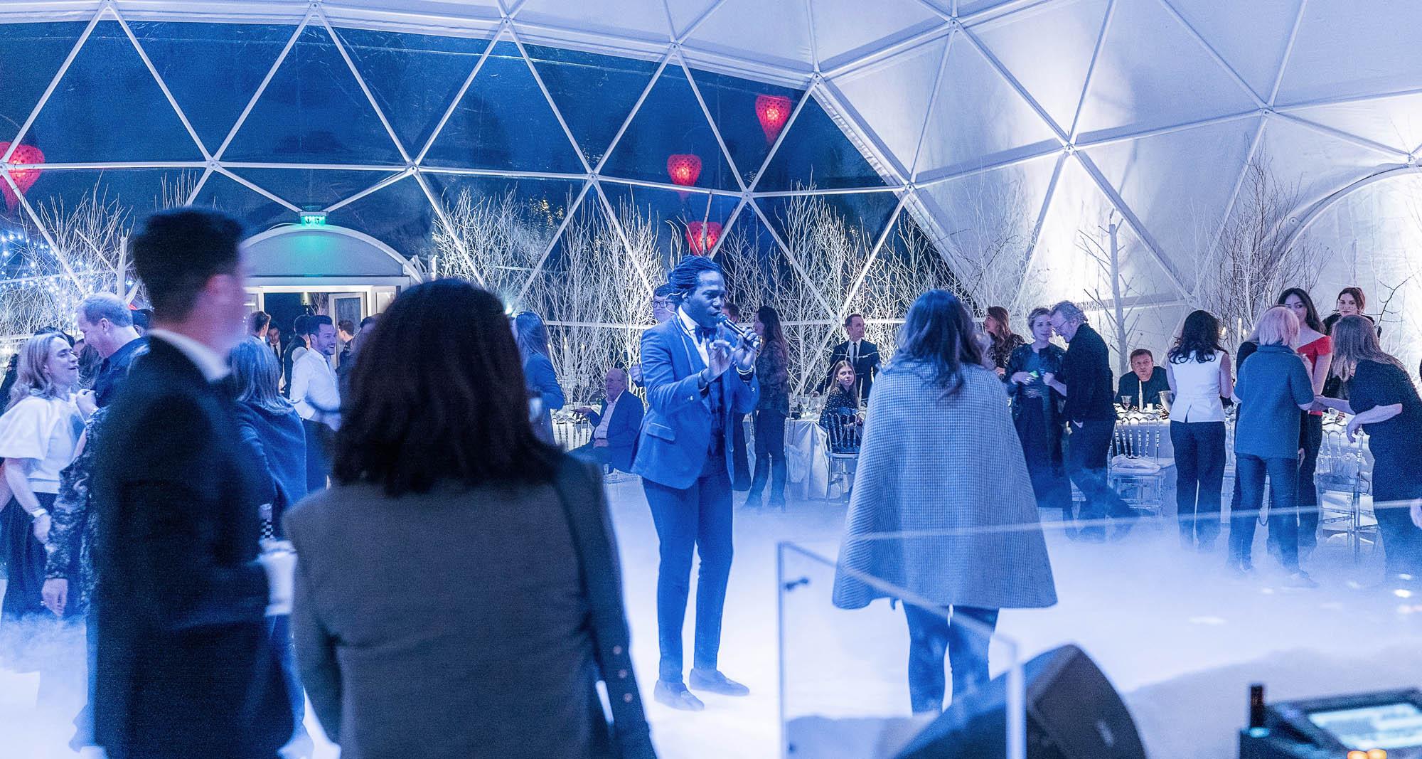 Soirée post défilé Dior dans un dôme géodésique