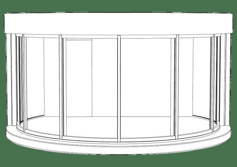 Plan du Woodpod, une structure circulaire