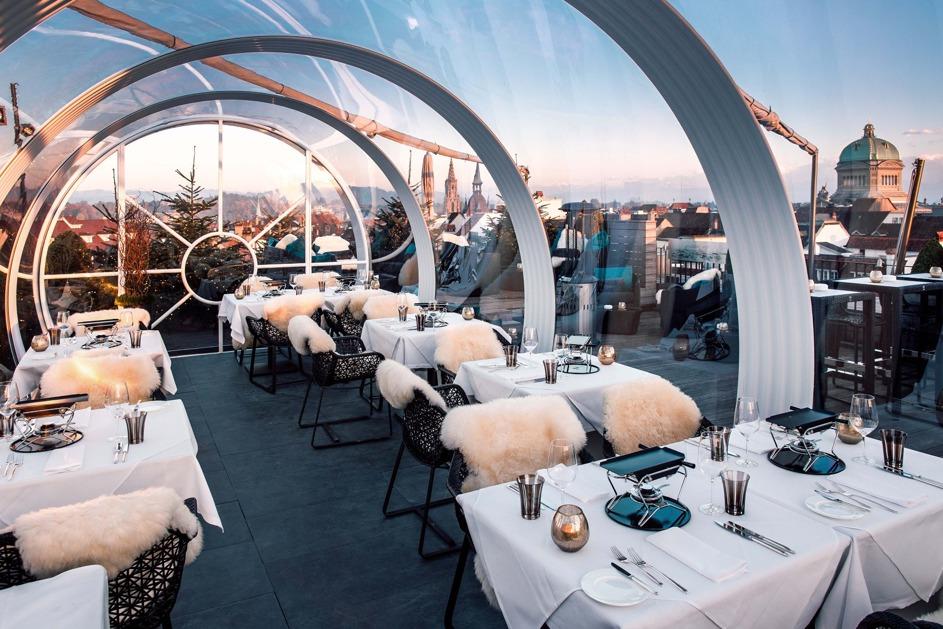 Restaurant dans une Galerie Tunnel sur un rooftop