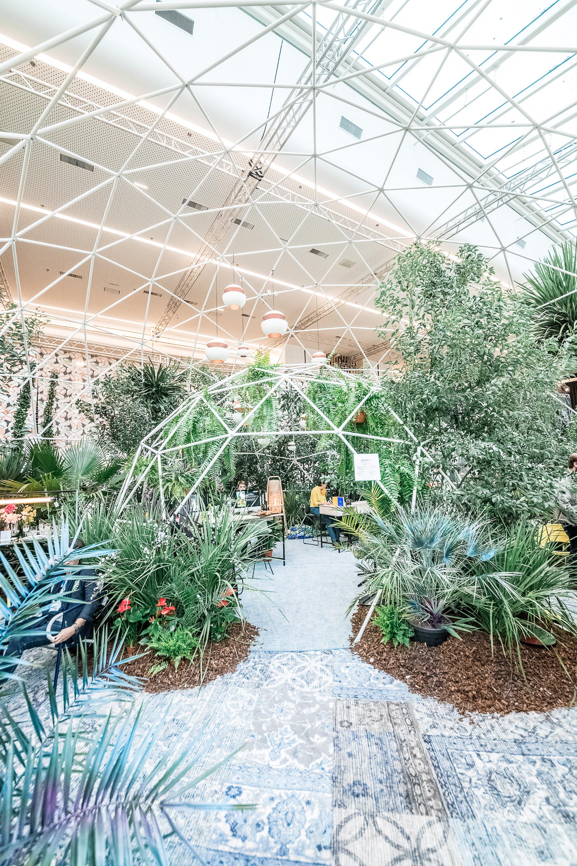 dôme dome geodesique salon