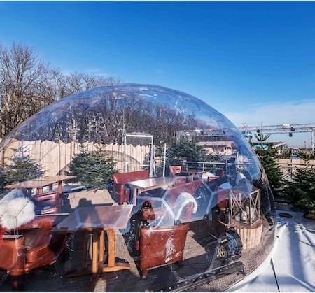Restaurant Halo Dôme transparent