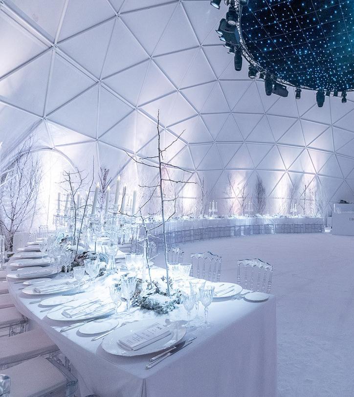 Un dôme géodésique pour Dior