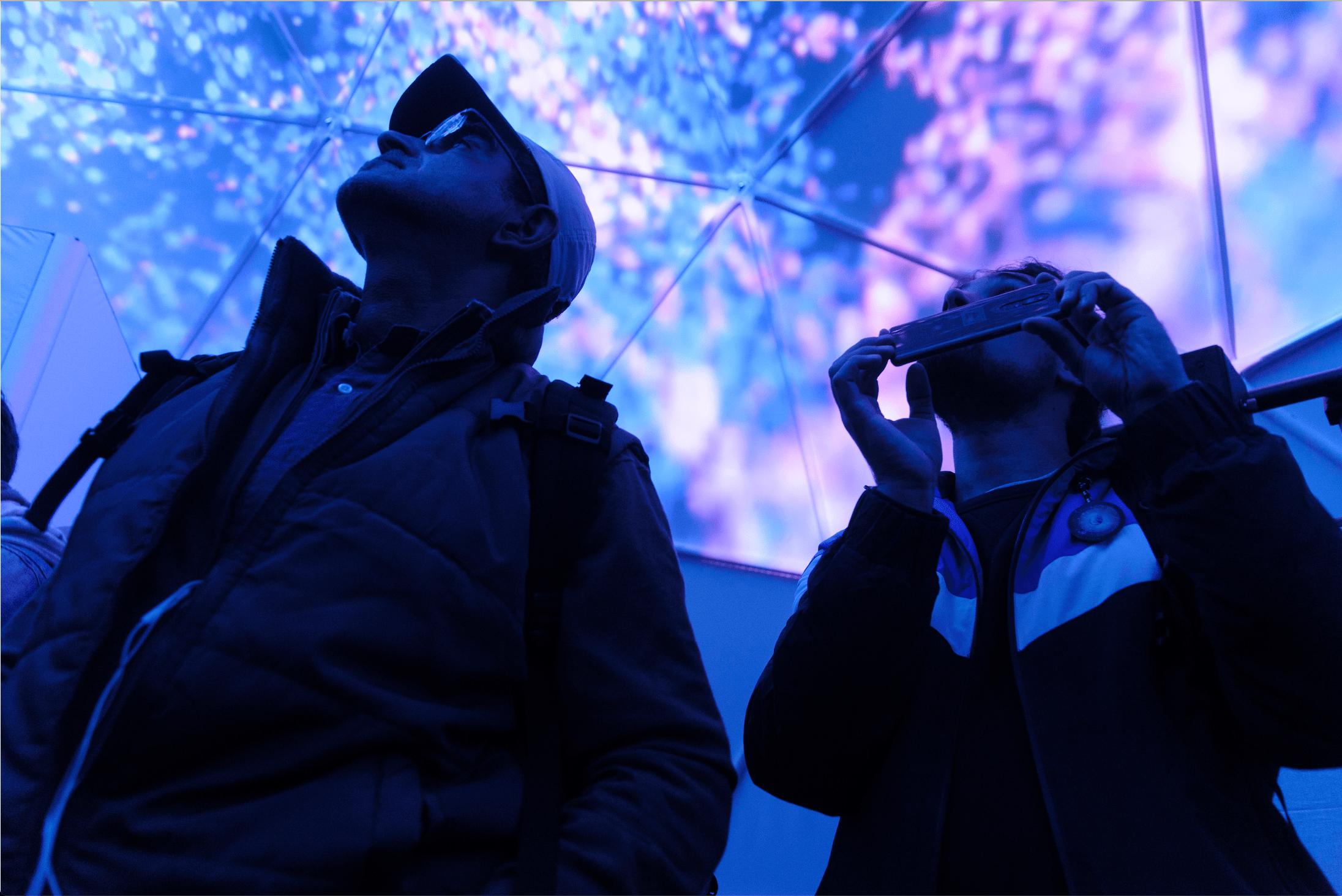 Vivre une expérience immersive dans un dôme géodésique