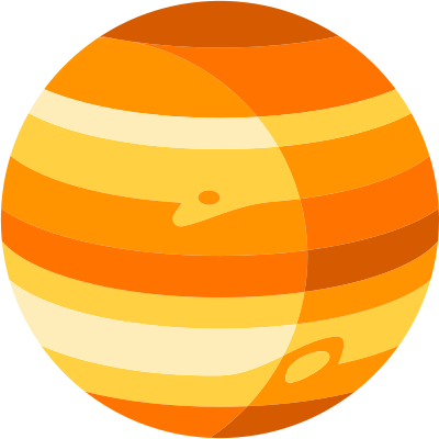 planet jupiter launch icon