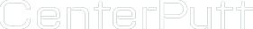 white CenterPutt logo