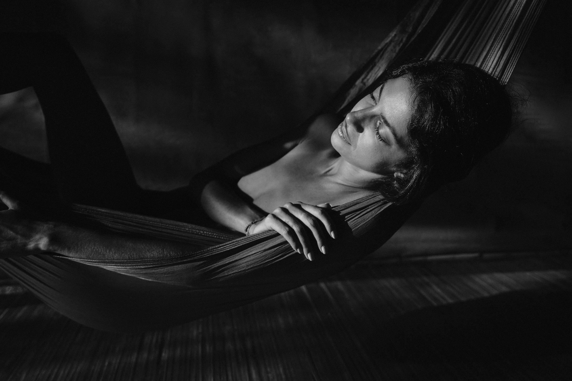 Kenza in hammock