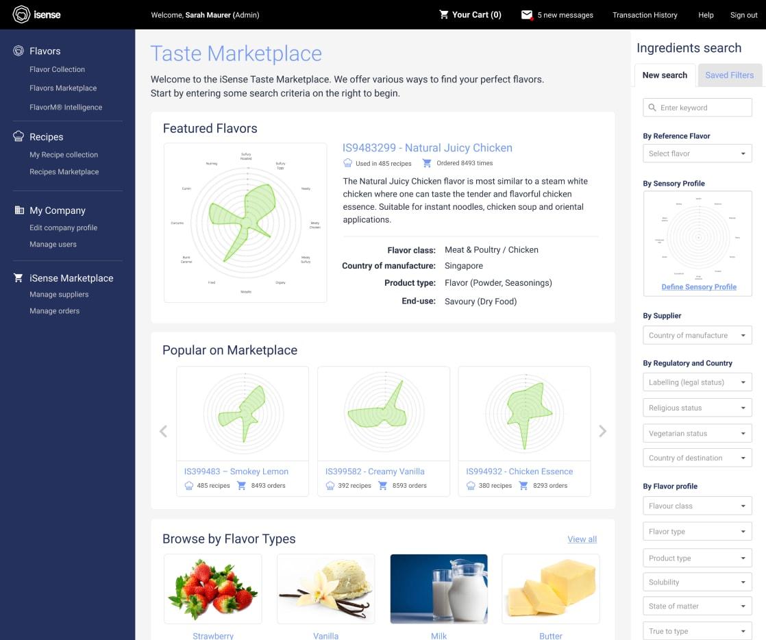 iSense - The Taste Industry Marketplace